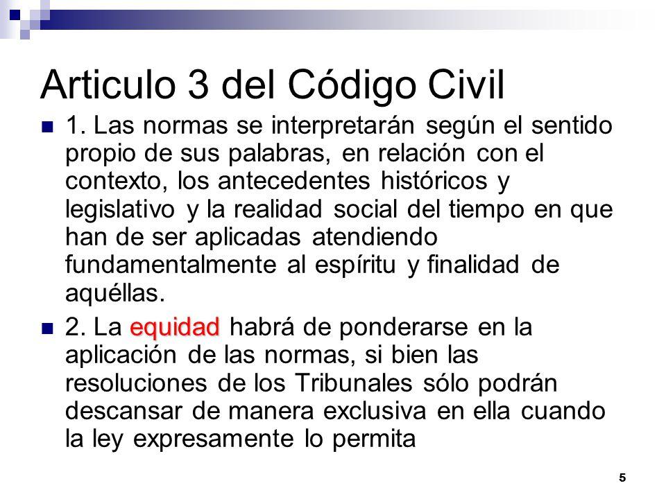 Articulo 3 del Código Civil