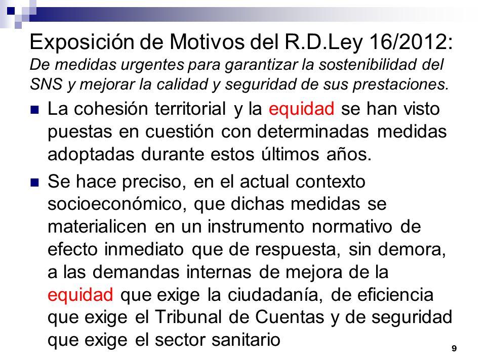Exposición de Motivos del R. D