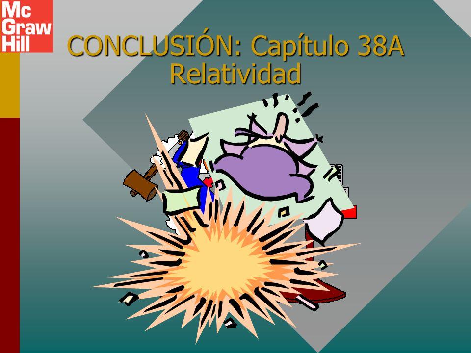 CONCLUSIÓN: Capítulo 38A Relatividad