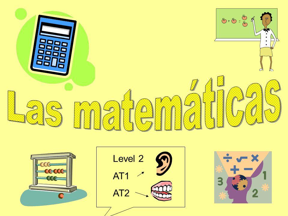 Las matemáticas Level 2 AT1 AT2