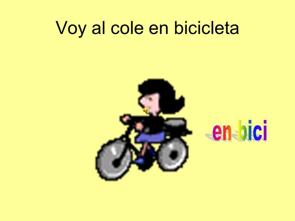 Voy al cole en bicicleta
