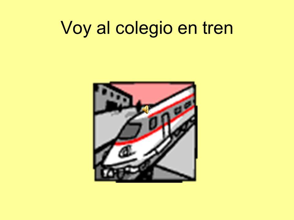 Voy al colegio en tren