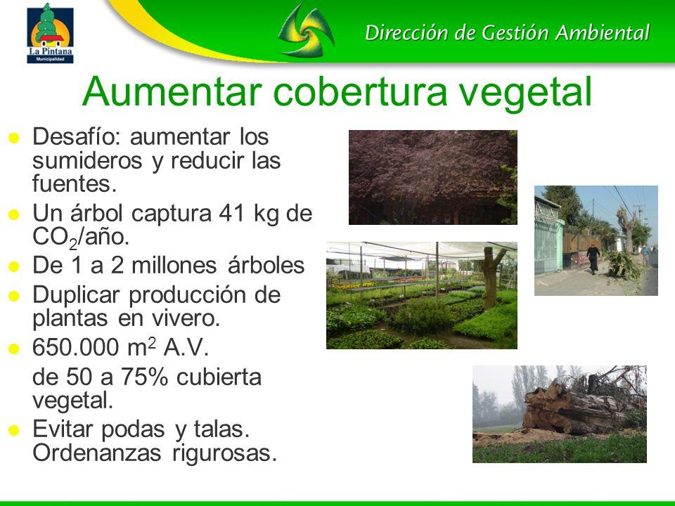Aumentar cobertura vegetal