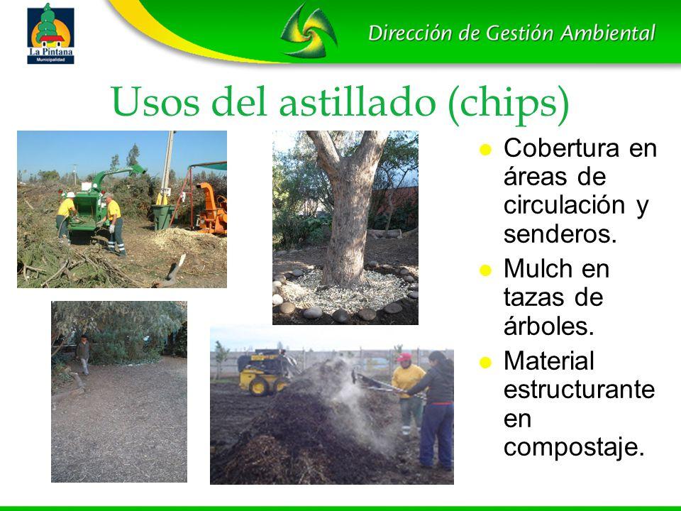Usos del astillado (chips)