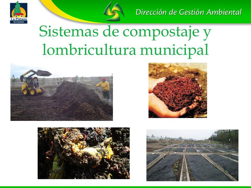 Sistemas de compostaje y lombricultura municipal