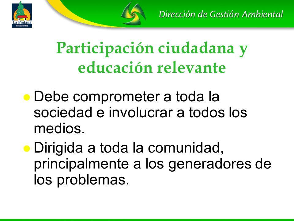 Participación ciudadana y educación relevante