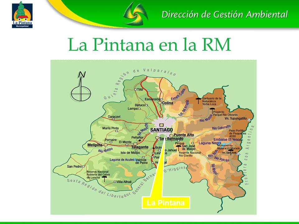 La Pintana en la RM La Pintana