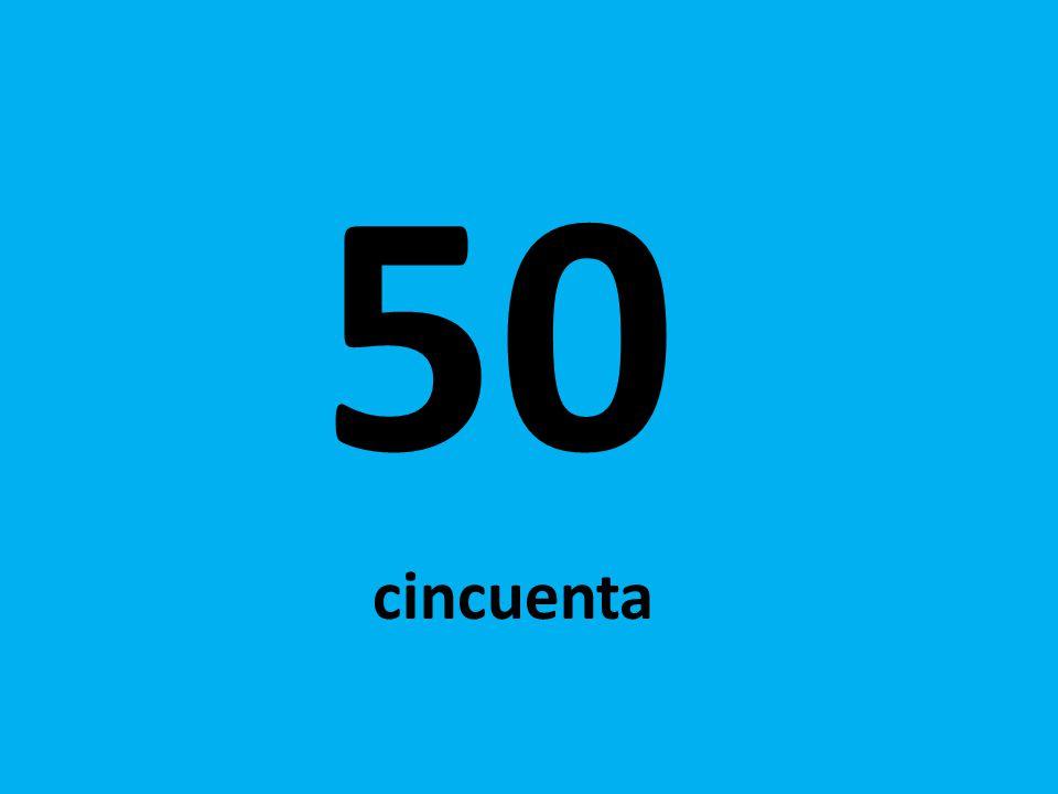 50 cincuenta