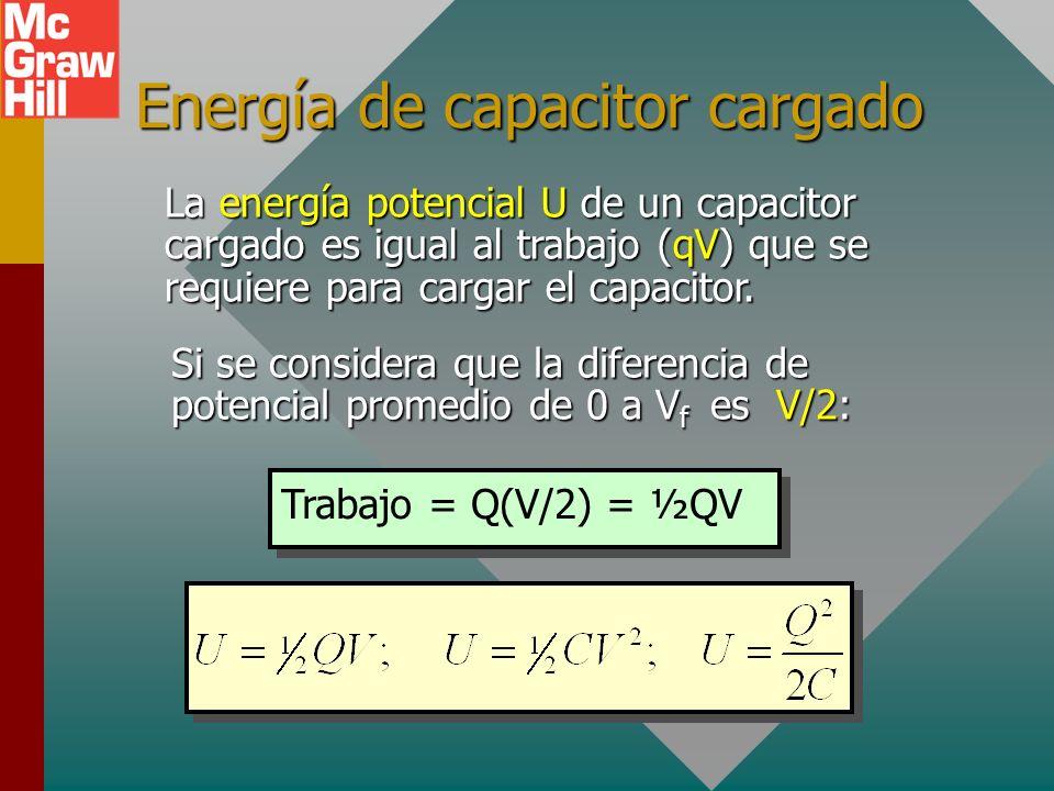 Energía de capacitor cargado