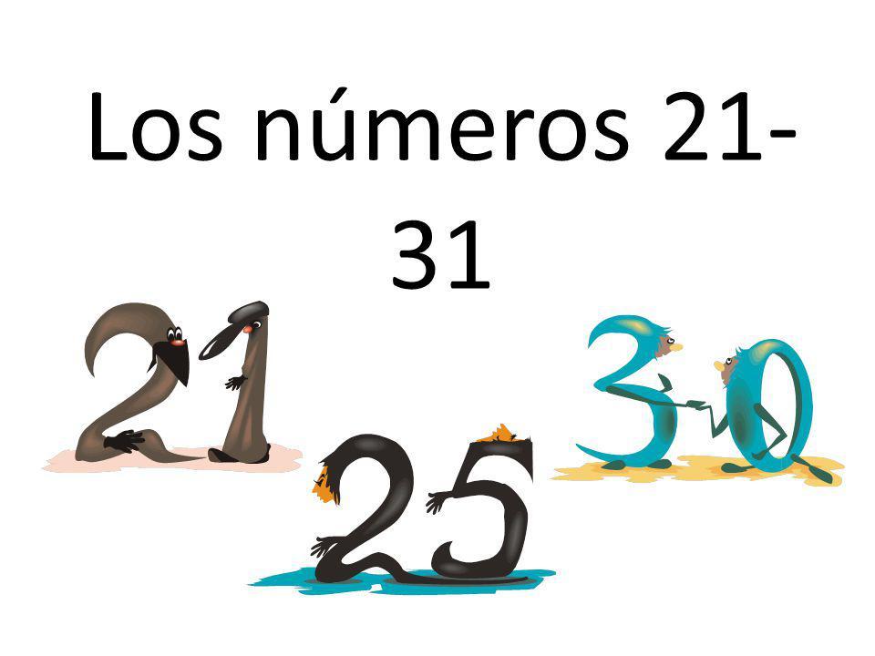 Los números 21-31