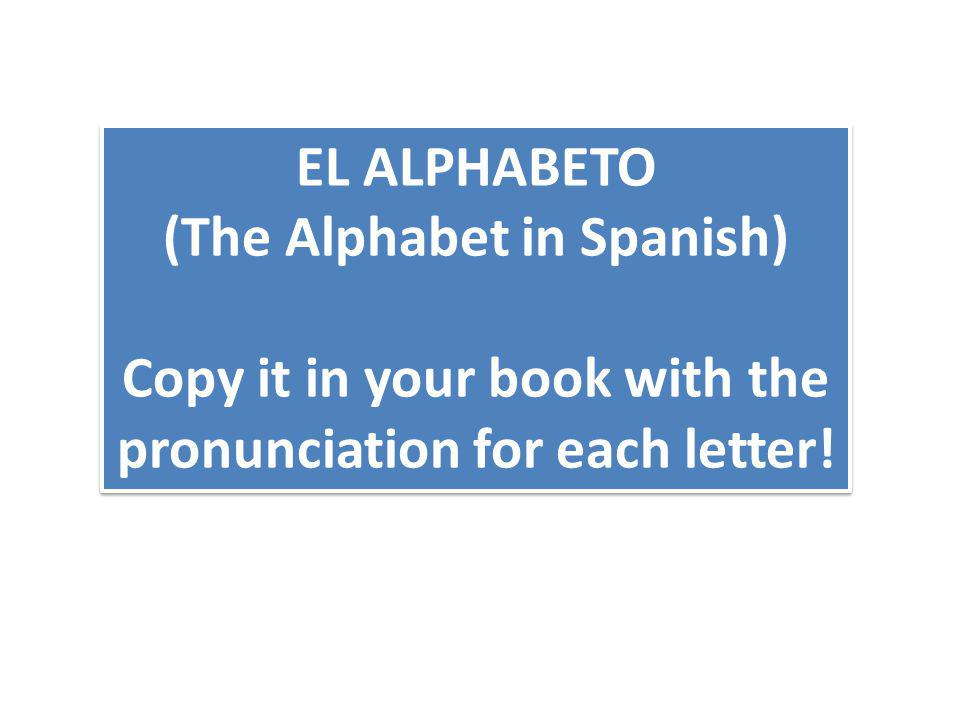 (The Alphabet in Spanish)