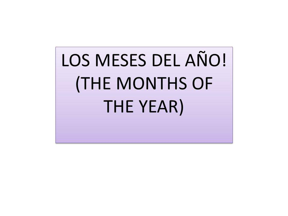 (THE MONTHS OF THE YEAR)