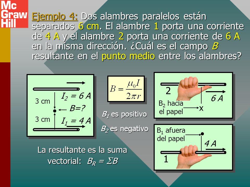 La resultante es la suma vectorial: BR = SB