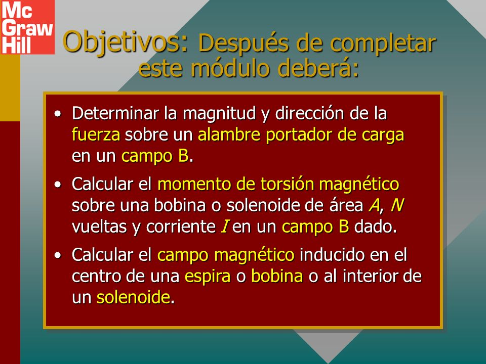 Objetivos: Después de completar este módulo deberá: