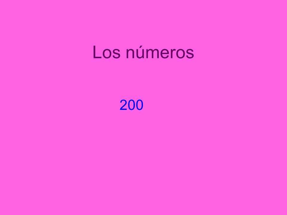 Los números 200