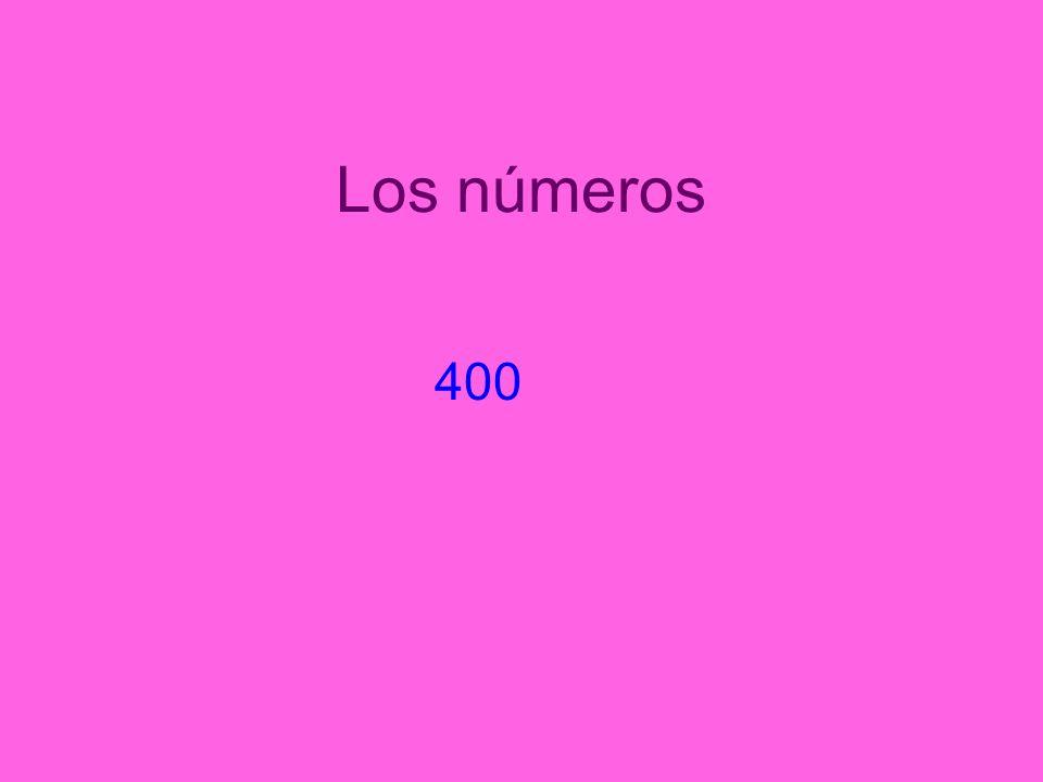 Los números 400