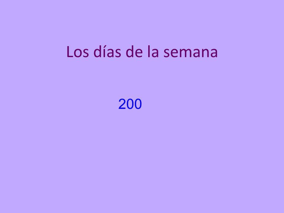 Los días de la semana 200