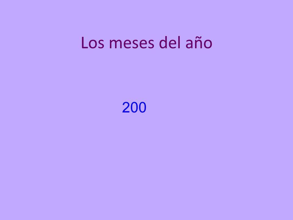 Los meses del año 200