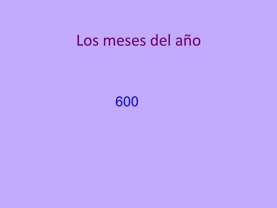 Los meses del año 600
