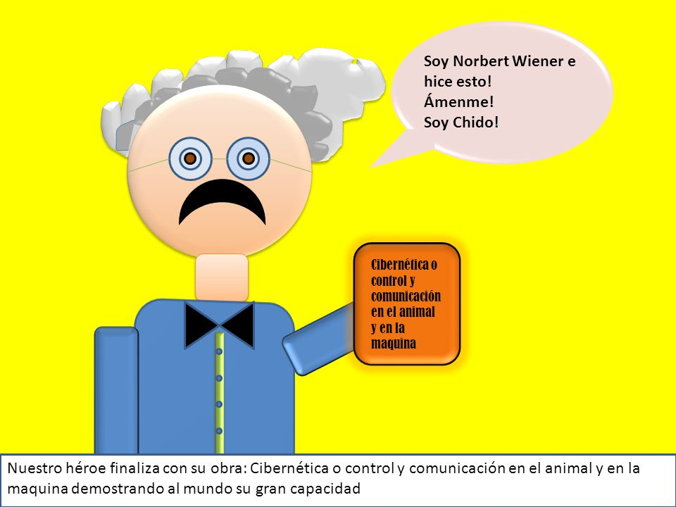 Soy Norbert Wiener e hice esto! Ámenme! Soy Chido!