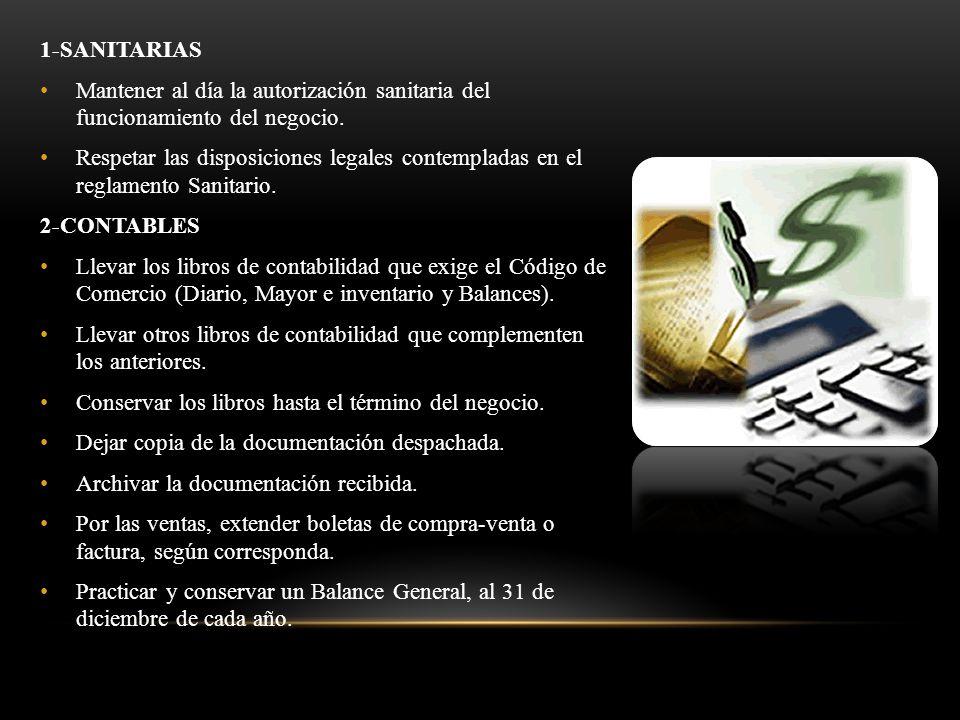 1-SANITARIAS Mantener al día la autorización sanitaria del funcionamiento del negocio.