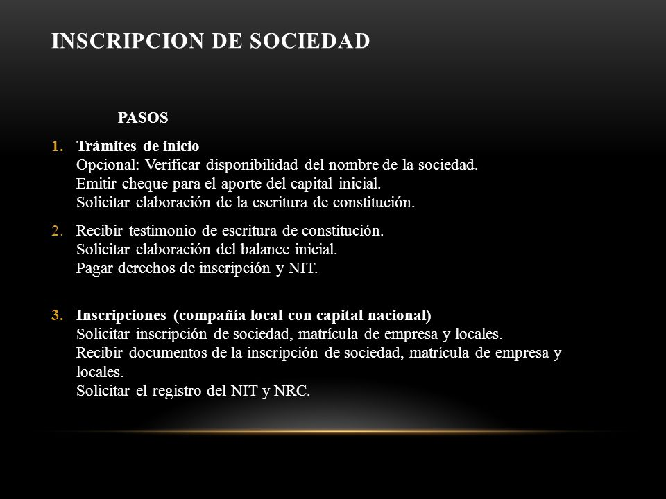 INSCRIPCION DE SOCIEDAD