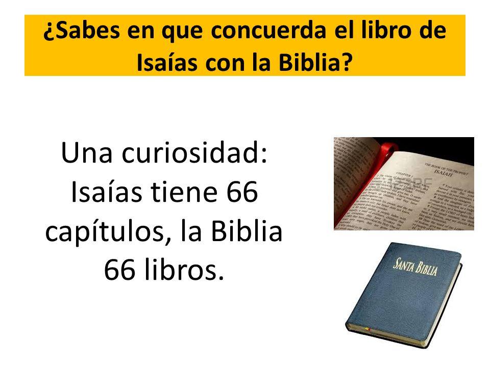 ¿Sabes en que concuerda el libro de Isaías con la Biblia