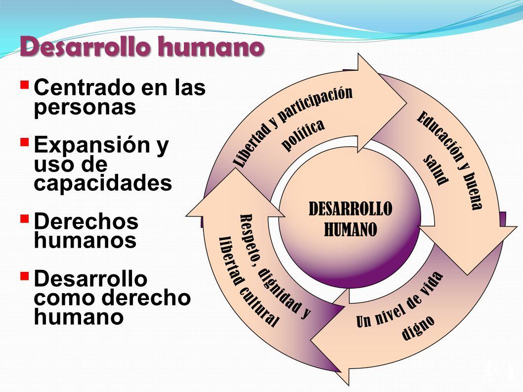 Desarrollo humano Centrado en las personas