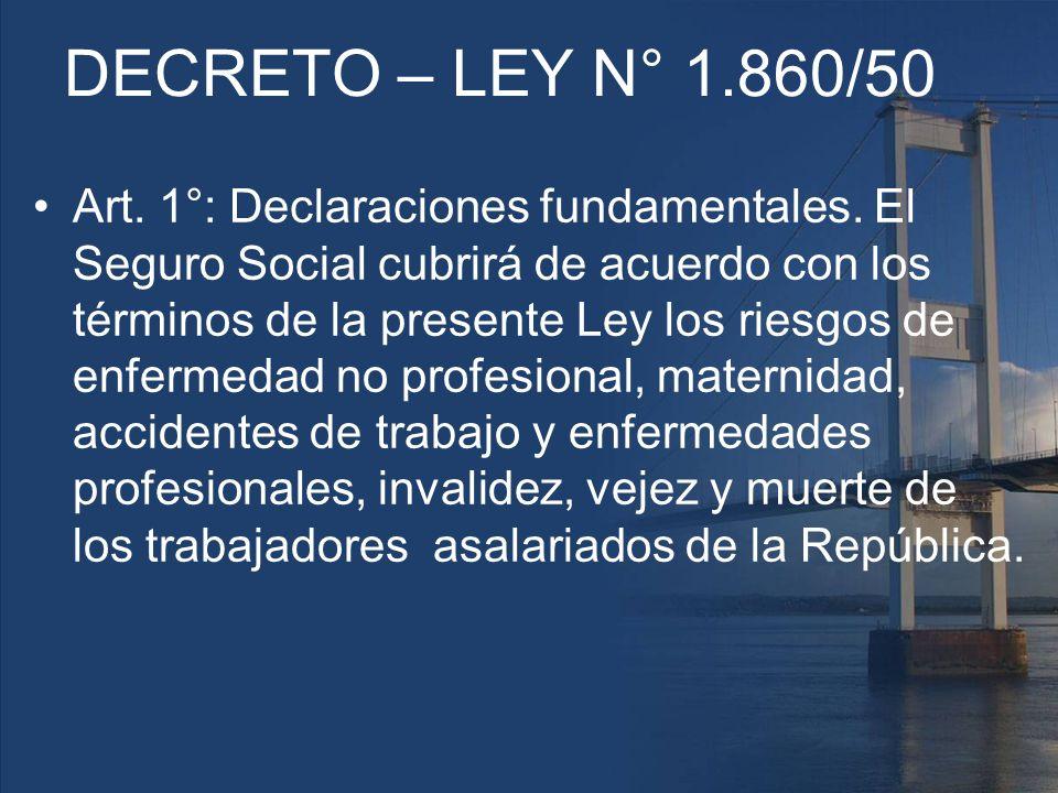 DECRETO – LEY N° 1.860/50