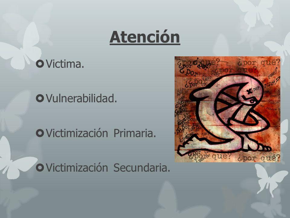 Atención Victima. Vulnerabilidad. Victimización Primaria.