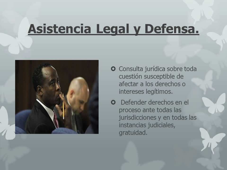 Asistencia Legal y Defensa.
