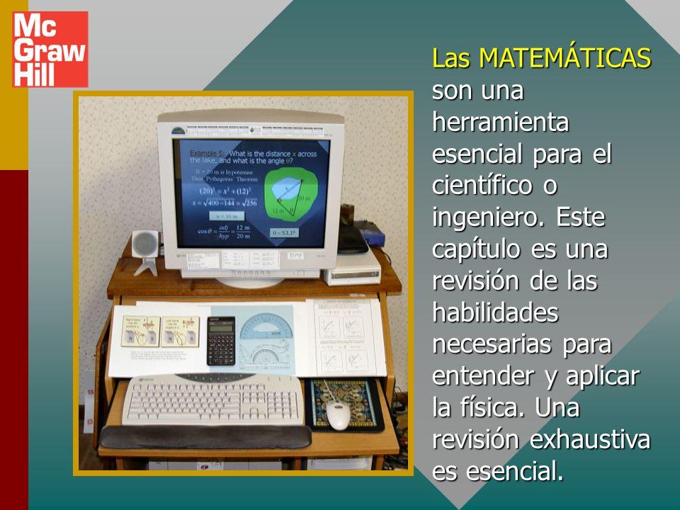 Las MATEMÁTICAS son una herramienta esencial para el científico o ingeniero.