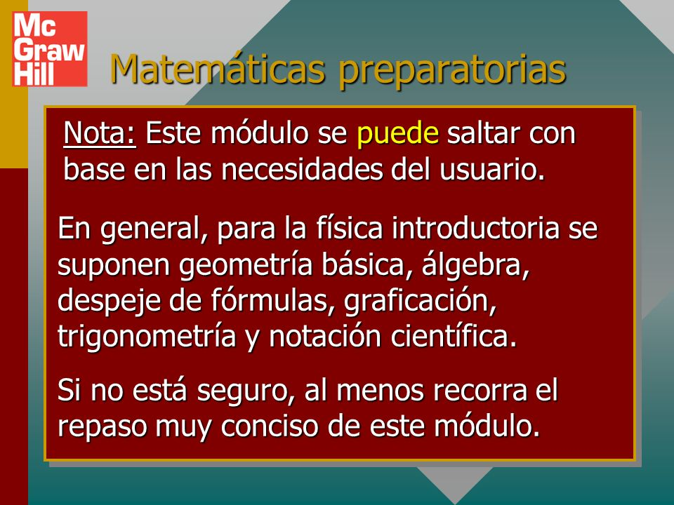 Matemáticas preparatorias