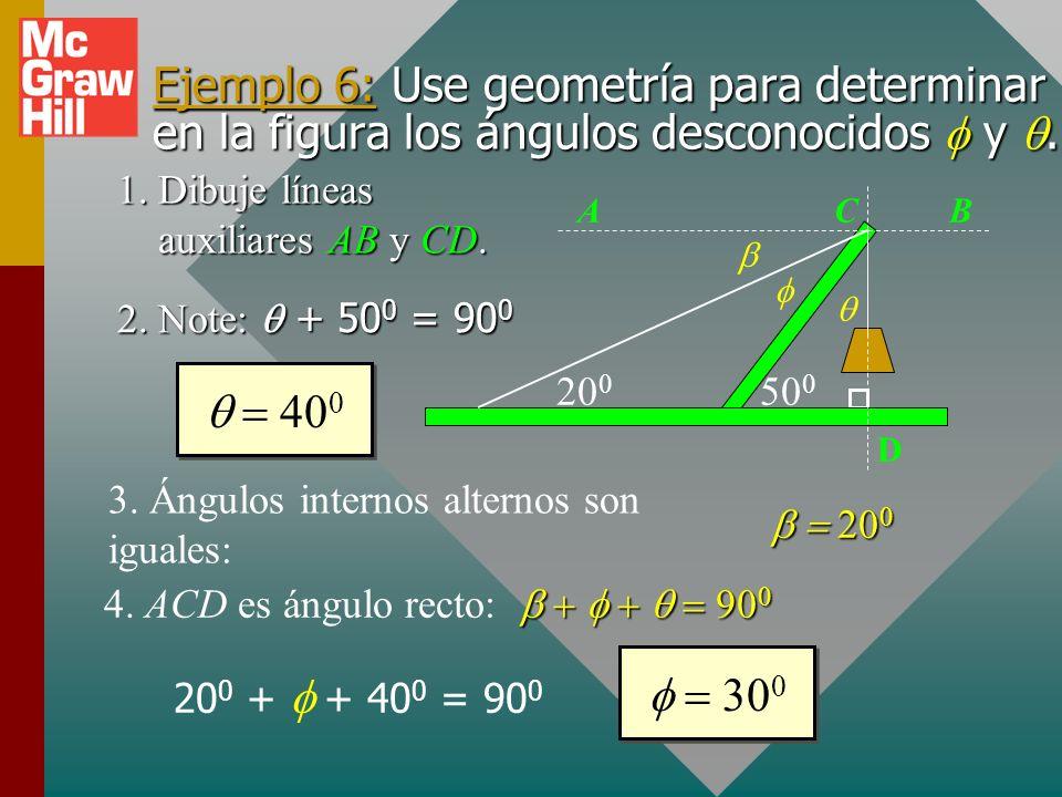 4. ACD es ángulo recto: b + f + q = 900