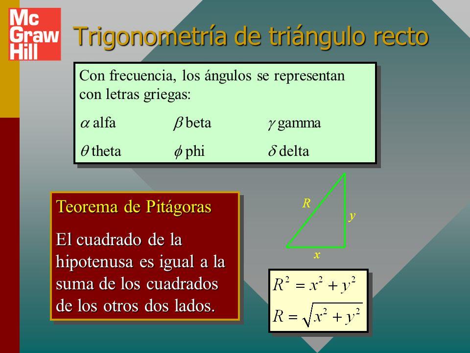 Trigonometría de triángulo recto