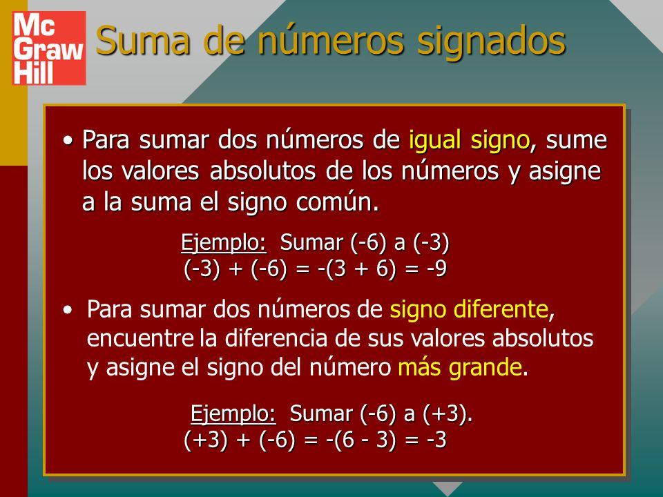 Suma de números signados