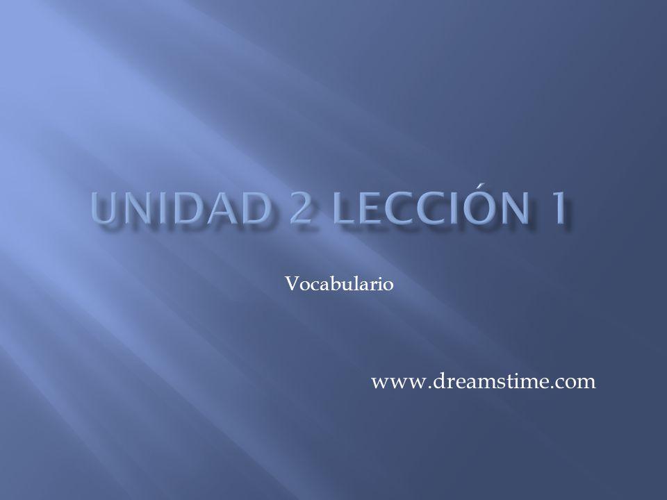 Unidad 2 lección 1 Vocabulario www.dreamstime.com