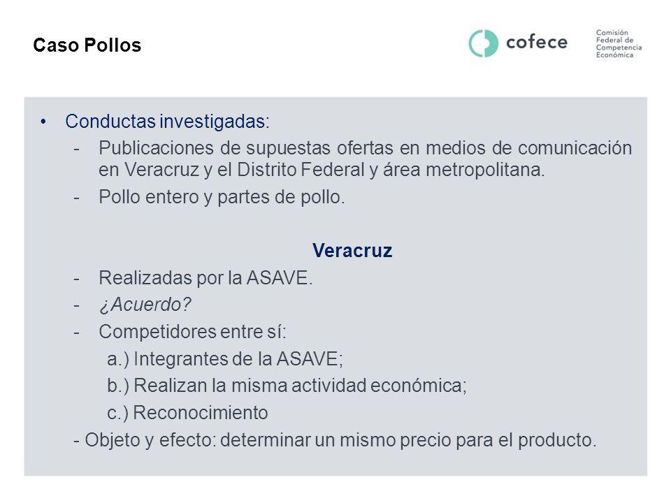 Caso Pollos Conductas investigadas: