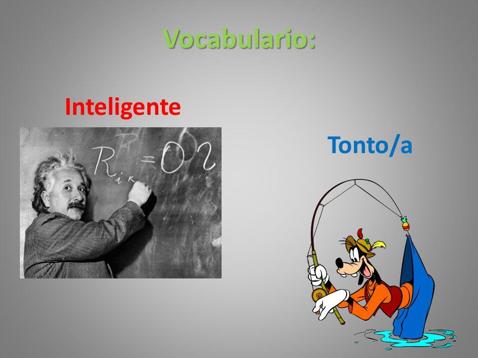 Vocabulario: Inteligente Tonto/a