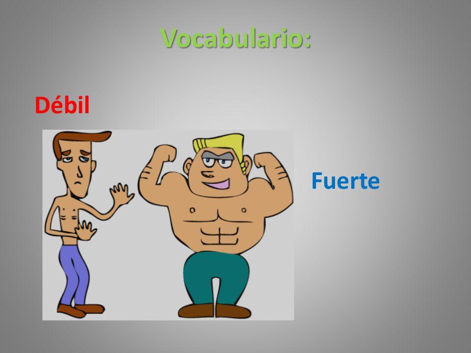 Vocabulario: Débil Fuerte