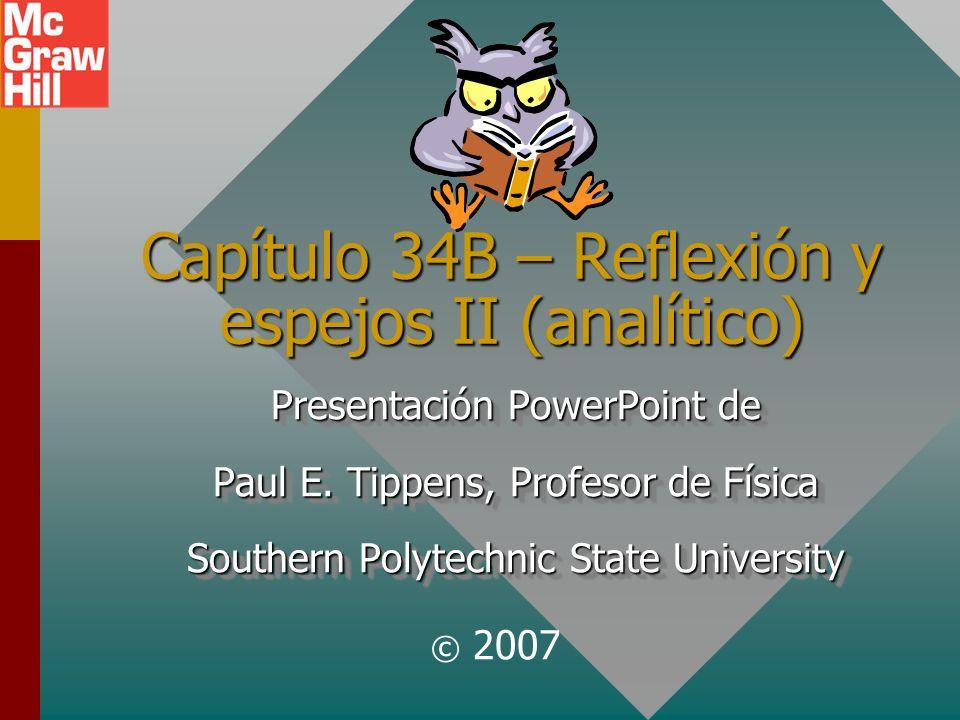 Capítulo 34B – Reflexión y espejos II (analítico)