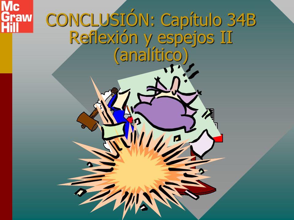 CONCLUSIÓN: Capítulo 34B Reflexión y espejos II (analítico)