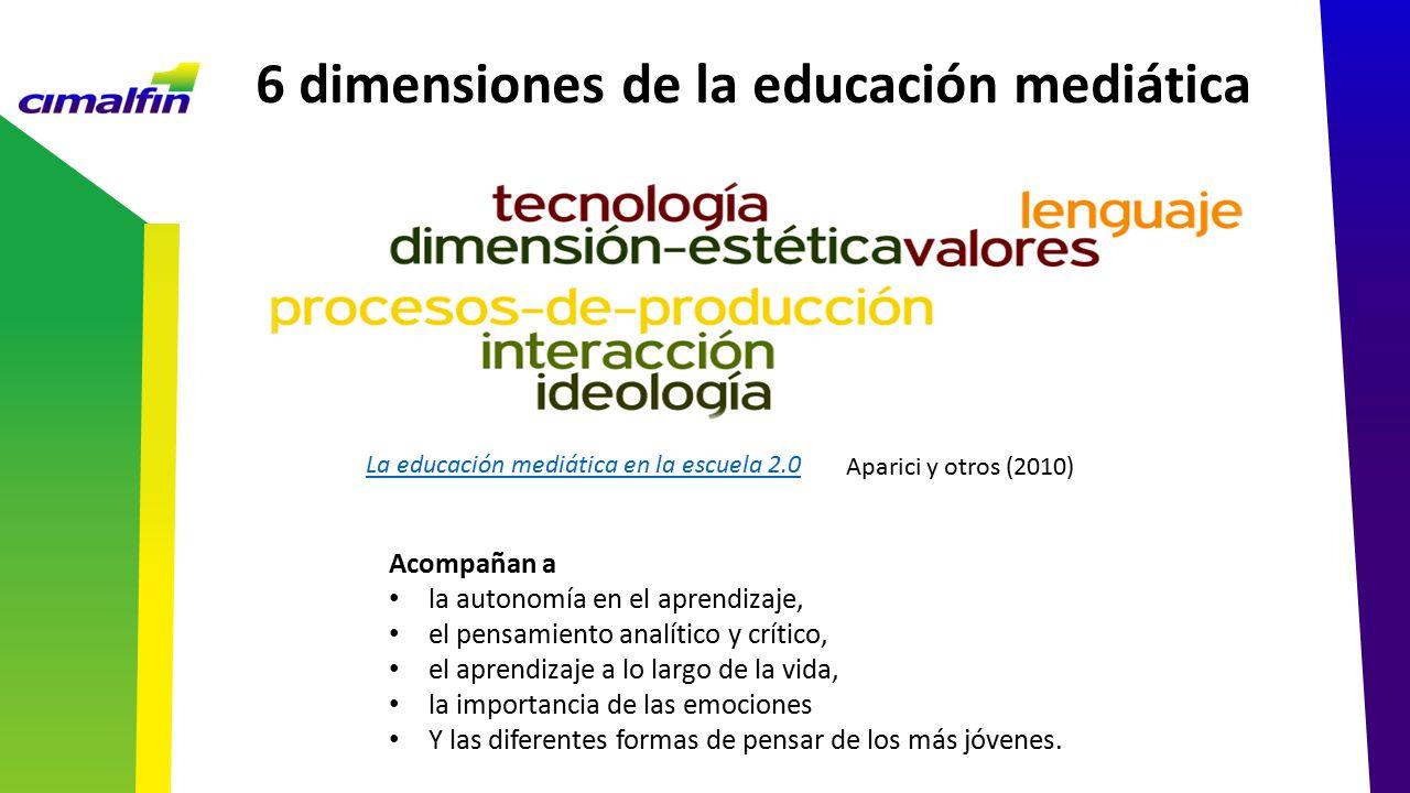 6 dimensiones de la educación mediática