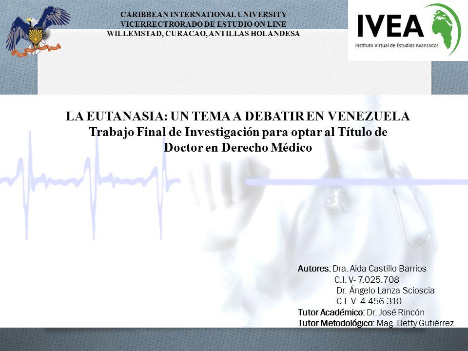 LA EUTANASIA: UN TEMA A DEBATIR EN VENEZUELA
