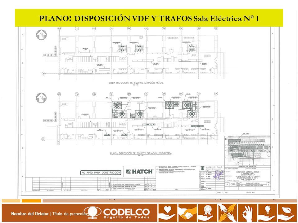 PLANO: DISPOSICIÓN VDF Y TRAFOS Sala Eléctrica N° 1