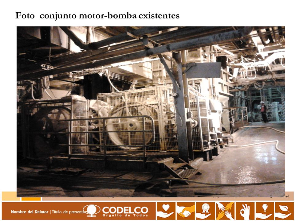 Foto conjunto motor-bomba existentes