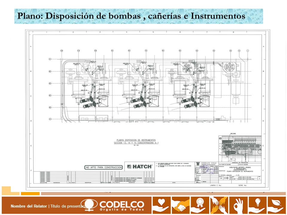 Plano: Disposición de bombas , cañerías e Instrumentos