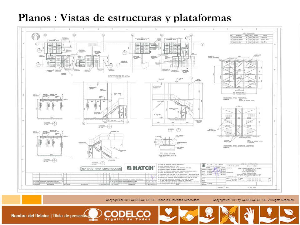 Planos : Vistas de estructuras y plataformas