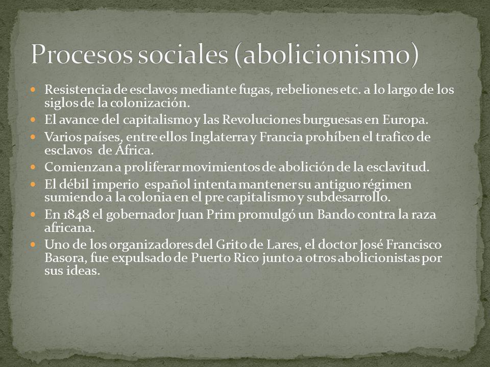 Procesos sociales (abolicionismo)