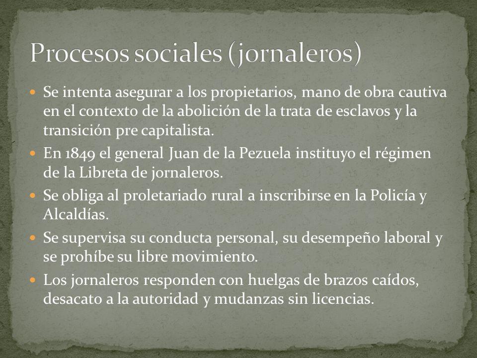 Procesos sociales (jornaleros)